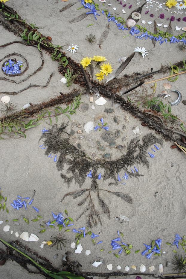 Grand sextile beach mandala - Grand mandala ...